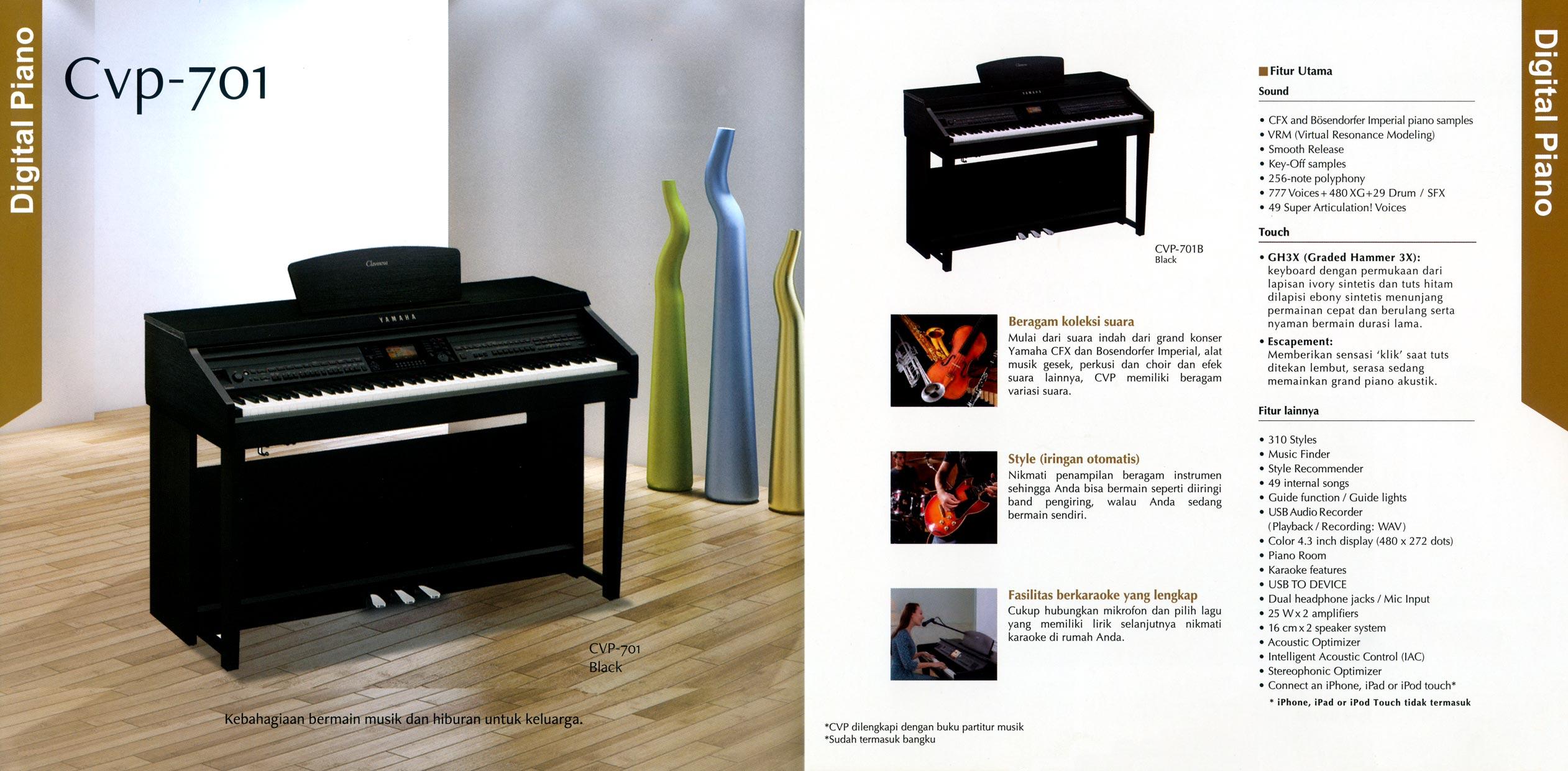clavinova cvp 701. Black Bedroom Furniture Sets. Home Design Ideas