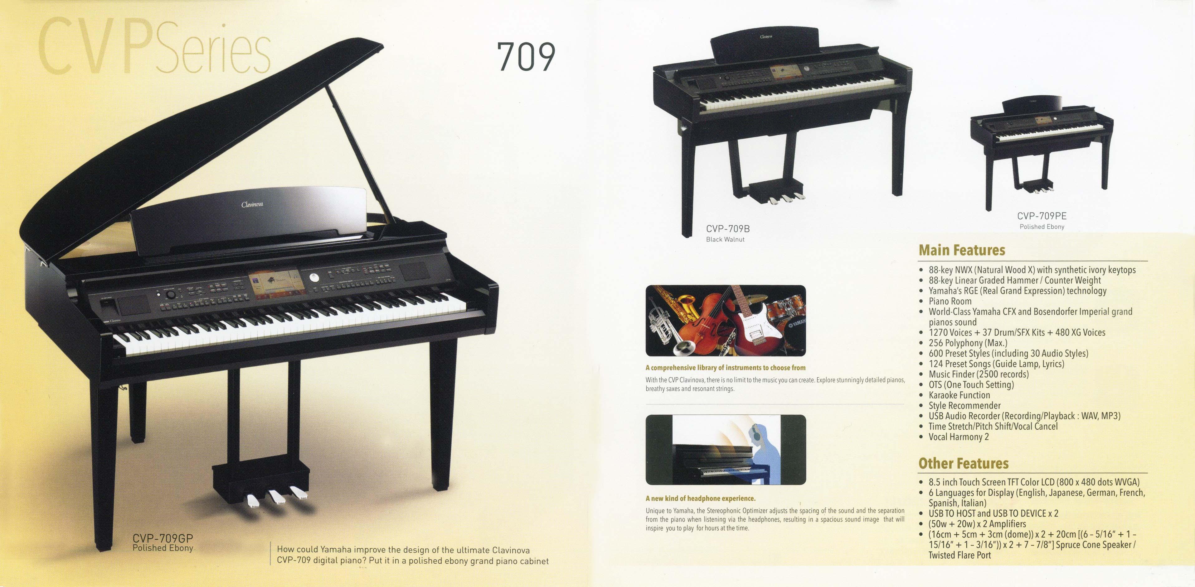 clavinova cvp 709. Black Bedroom Furniture Sets. Home Design Ideas